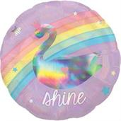 "Magical Rainbow 18"" Standard Foil Balloon"