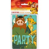 The Lion King Invitations