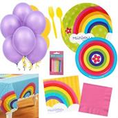 Rainbow Party Supplies Kit for 16