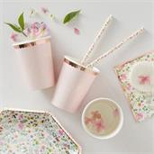 Ginger Ray Ditsy Floral Polka Dot & Rose Gold Cup