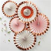 Ginger Ray Ditsy Floral Fan Decorations (5 Count)