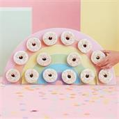 Ginger Ray Pastel Party Rainbow Donut Holder 12.75