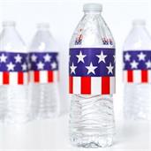 Patriotic Water Bottle Wraps (8 Count)