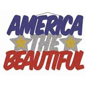"Patriotic ""America The Beautiful"" Glitter Plaque"