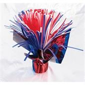 Pom Pom Red, White & Blue Balloon Weight Centerpie