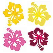 Luau Felt Glitter Flower Decorations (2 Count)