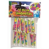 Luau Festive Drink Umbrellas (12 Count)