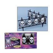 Light Up Gothic Skull Fence
