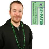 Happy St. Patrick's Day Letter Beaded Necklace