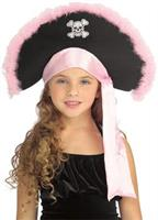 Girls Pirate Hat In Pink Child