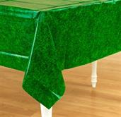 "Green Grass Plastic Tablecover 54"" x 102"""