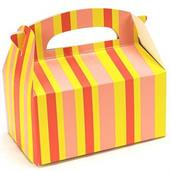 Orange Striped Empty Favor Boxes