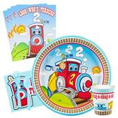 Two-Two Train 2nd Birthday Basic Party Pack