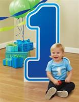 "#1 Blue Birthday Standup 36"" high x 21"""