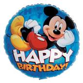 Disney Mickey Happy Birthday Foil Balloon 18""