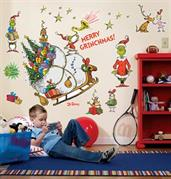 Grinch Wall Decals with Squeegee