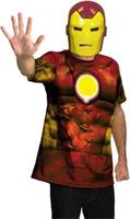 Iron Man Shirt And Mask Adult Costume