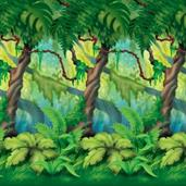 Jungle Trees Backdrop 4' high x 30'