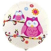 Owl Colorful Party Balloons, Numbered Balloons and Balloon Bouquets
