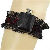 Roaring 20's Deluxe Gangster Adult Garter and Flask
