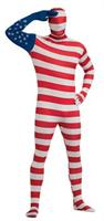 USA Flag Skin Suit Adult Costume