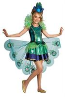 Peacock Girl Child Costume