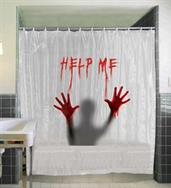 Help Me Shower Curtain