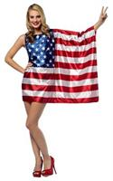 USA Flag Dress For Adults