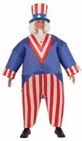 Uncle Sam Infatable Adult Costume