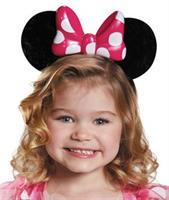Pink Minnie Mouse Light Up Child Ears Headband