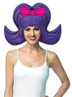 Purple Bouffant Adult Foam Wig