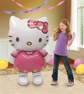 "Hello Kitty Airwalker Foil Balloon 50"" H x 30"" W"