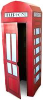 "Phone Booth Cardboard Stand 71.5""H x 26.5""W x 26.5""D"