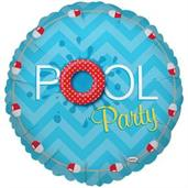 Splashin' Pool Party Foil Balloon 18""