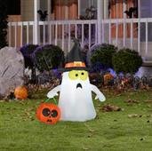 Ghost with Witch Hat Airblown