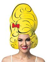 Yellow Beehive Comic Foam Adult Wig