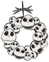 "The Nightmare Before Christmas Jack Skellington 17"" Wreath"