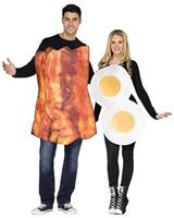 Bacon and Eggs Adult Couples Costume