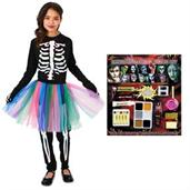 Skeleton Tutu Child Costume Kit