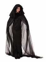 Womens Black Haunted Dress Costume