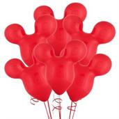 "15"" Mouse Ears Red Latex Balloons"