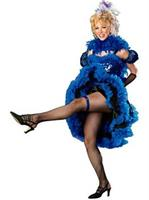 Cancan Girl Blue Adult Costume