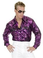Disco Purple Flame Adult Plus Shirt