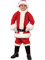 Flannel Santa Suit Child Costume