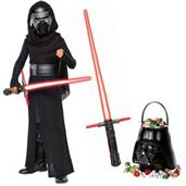 Star Wars Episode VIII: The Last Jedi - Kylo Ren Deluxe Child Costume and Lightsaber Bundle