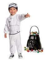 Star Wars Episode VII: The Last Jedi - Stormtrooper Toddler Costume and Candy Pail Bundle - 2T