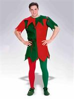Red and Green Elf Adult Tights
