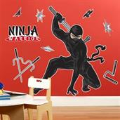 Ninja Warrior Party Giant Wall Decals