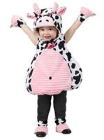 Toddler Pink Belly Cow Costume