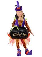 Girls Cauldron Witch Costume